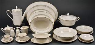 A COLLECTION OF NORITAKE GILT RIM AND IVORY CHINA