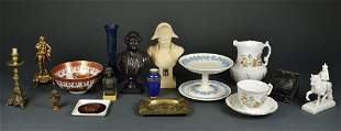 A COLLECTION OF VINTAGE PORCELAIN AND CHINA WITH BUST O