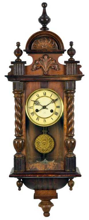 An Antique French Victorian Wall Clock