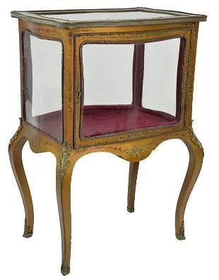 A VERNIS MARTIN STYLE VITRINE CABINET 19th Century One