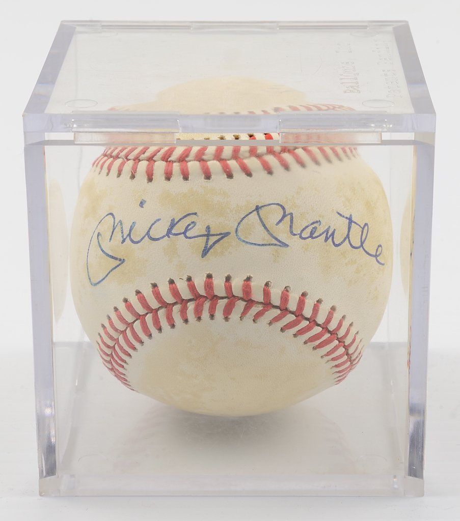 A MICKEY MANTLE SIGNED BASEBALL