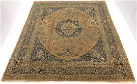Very Fine Antique Hand Knotted Mashad Khorasan Palace