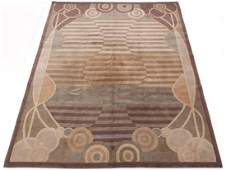 Very Fine Hand Knotted Gabbeh Art Deco Style Carpet