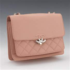 Chanel Pink Leather Flap, 2019