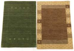 Two Fine Hand Knotted Gabbeh Carpets