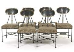 Steampunk Style Set of Six Chairs