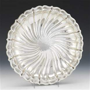 Gorham Sterling Silver Fluted Swirl Shallow Bowl