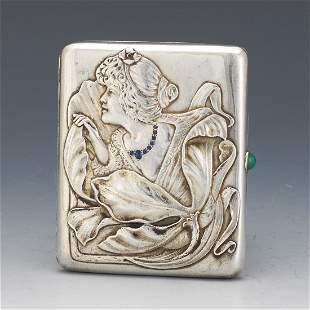 Russian Art Nouveau Gold, Vermeil Gold on 84 Zolotnik