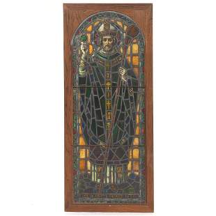 Stained Glass Panel of Saint Patrick