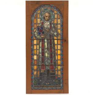 Stained Glass Panel of Saint John