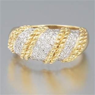 Ladies' 18k Gold and Diamond Ring