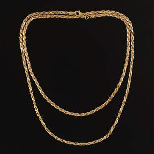 Technigold Diamond Cut Rope Necklace Chain