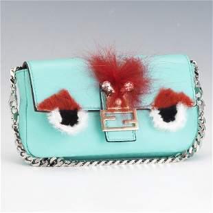 Fendi Micro Monster Baguette/Pocket on Chain