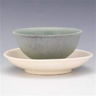 Chinese Porcelain Celadon Bowl and Dehua Porcelain