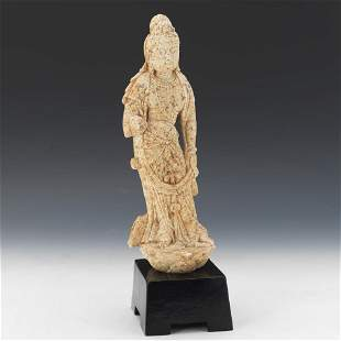 Carved Marble Guanyin