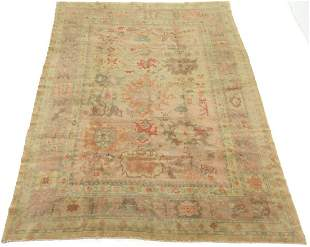 Very Fine Antique Hand-Knotted Oushak Carpet, ca.