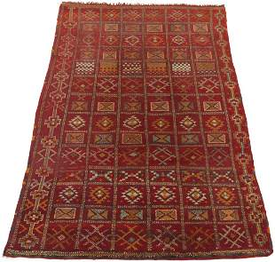 Rare Very Fine Antique Hand-Knotted Oushak Carpet, ca.
