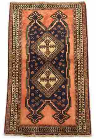 Fine Vintage Hand-Knotted Afshar Carpet