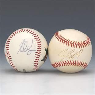 Nolan Ryan and Craig Biggio Autographed Baseballs