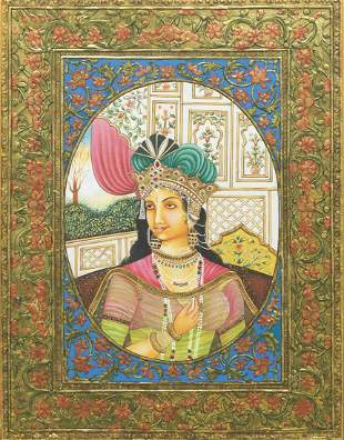 Pair of Framed Indian Portrait Paintings