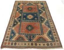 Vintage Hand-Knotted Turkish Village Carpet