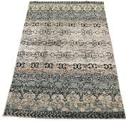 Fine Hand-Knotted Gabbeh Bamboo Silk Carpet