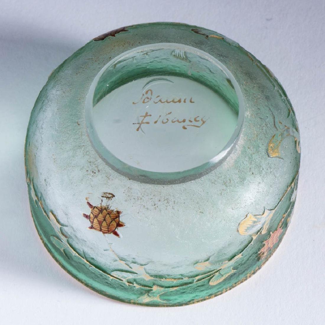 DAUM NANCY FRENCH FOLIATE CAMEO ART GLASS OPEN SALT - 4