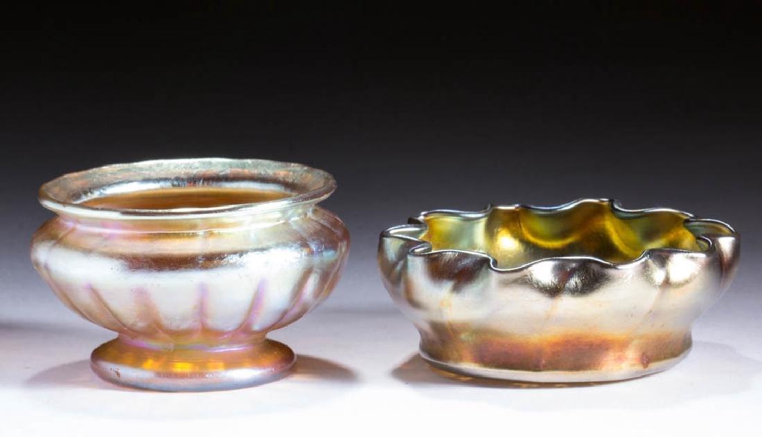 TIFFANY FAVRILE ART GLASS OPEN SALT