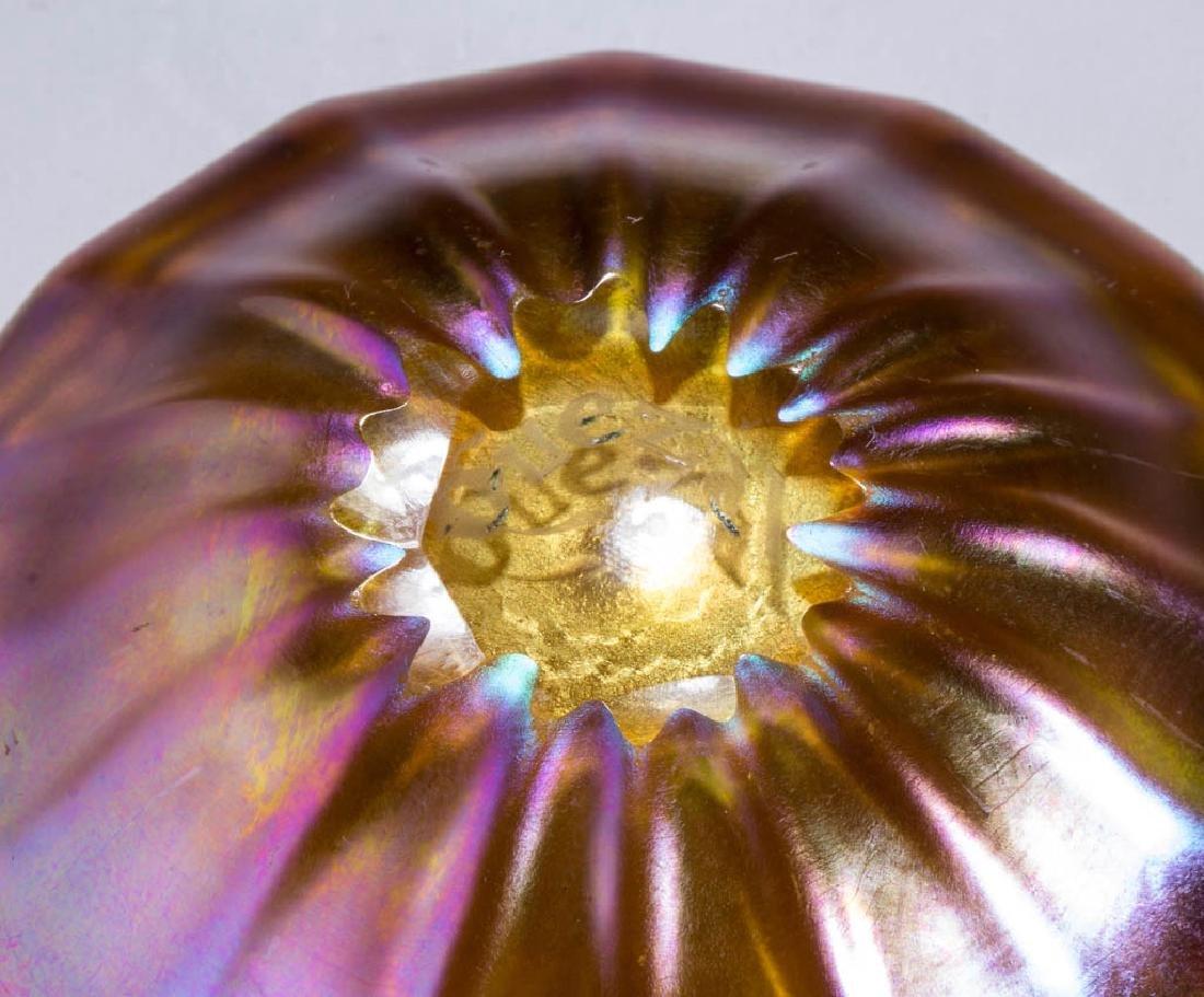 QUEZAL ART GLASS OPEN SALT - 2