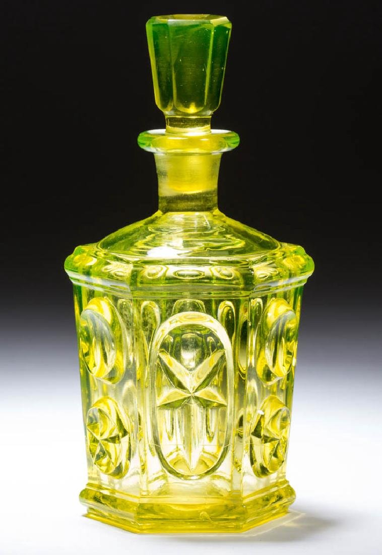 PRESSED STAR AND PUNTY COLOGNE BOTTLE