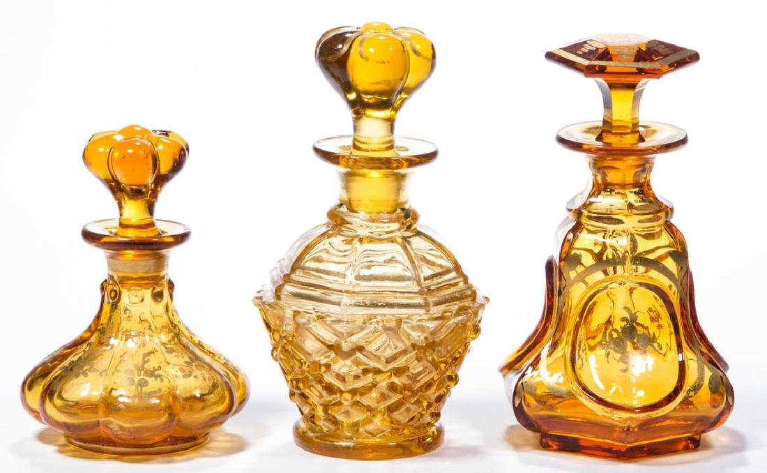ASSORTED BLOWN-MOLDED COLOGNE BOTTLES, LOT OF THREE