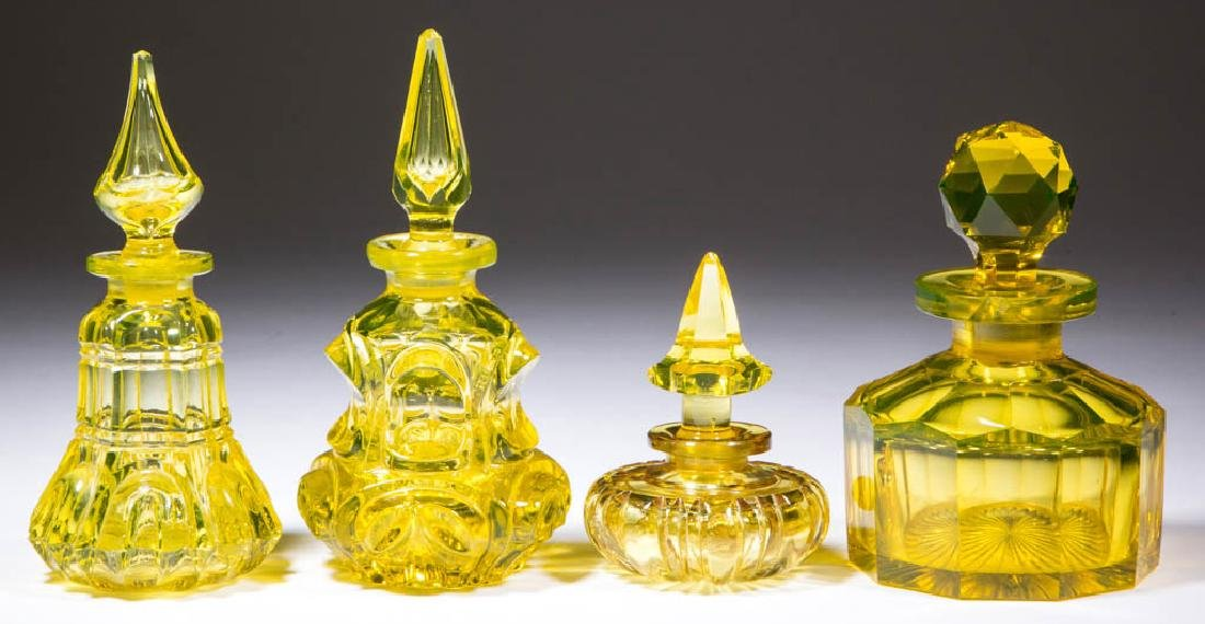 ASSORTED BLOWN-MOLDED / PRESSED COLOGNE BOTTLES, LOT OF
