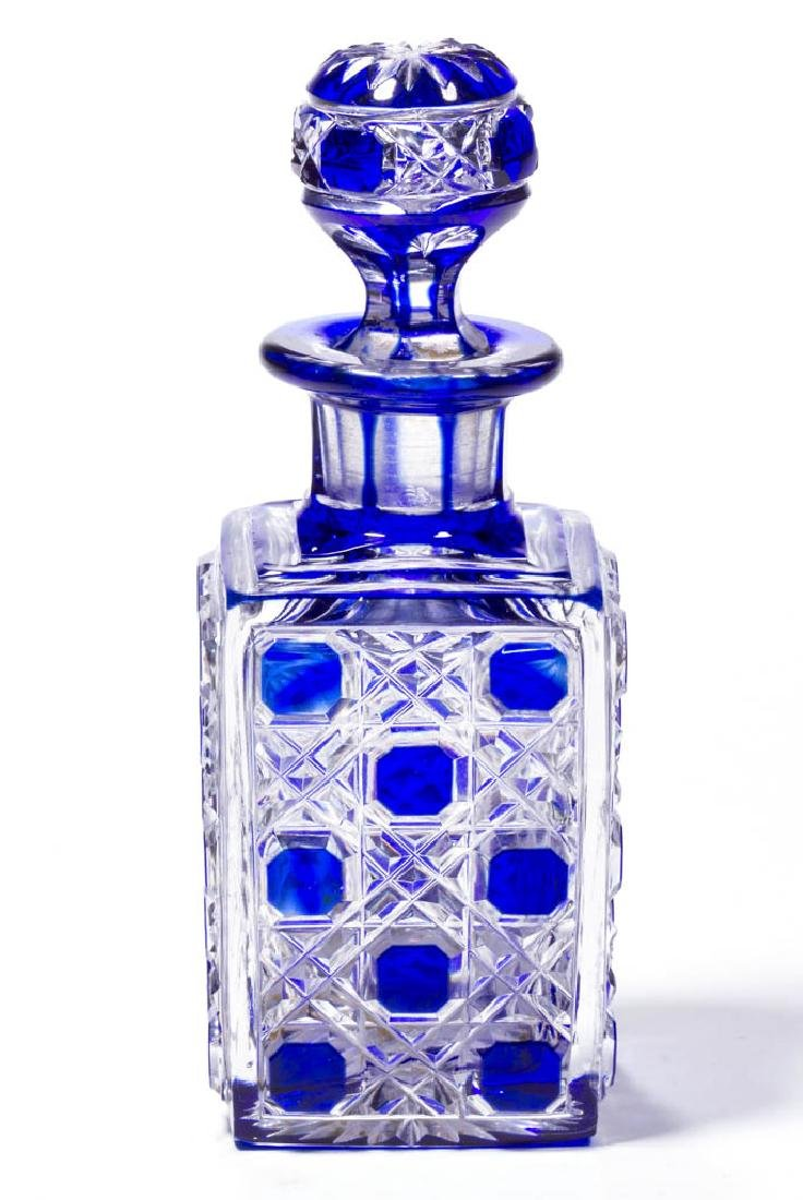 CUT OVERLAY OCTAGON DIAMOND COLOGNE / PERFUME BOTTLE