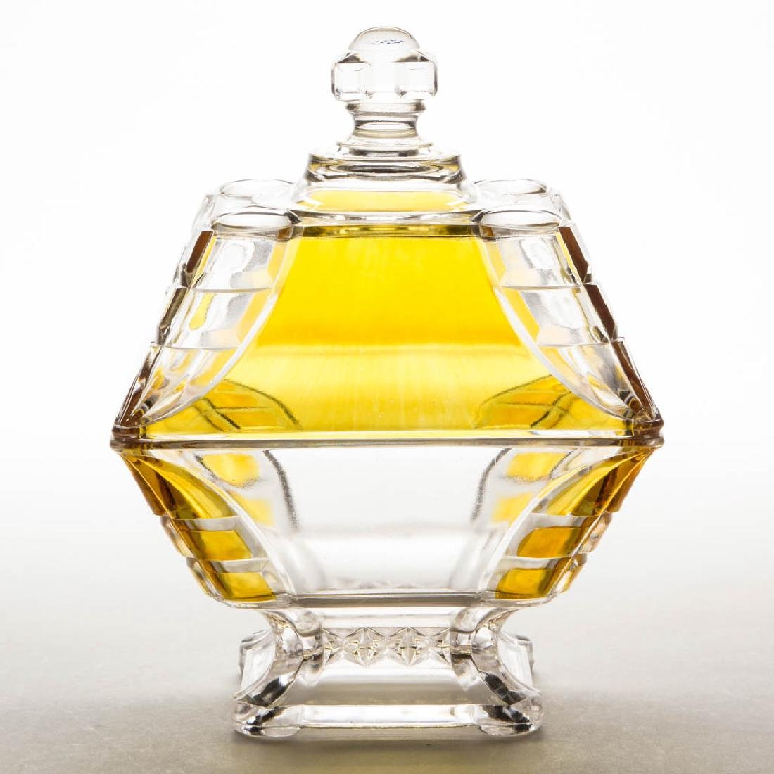 HIDALGO / ADAMS NO. 5 - AMBER-STAINED COVERED COMPOTE