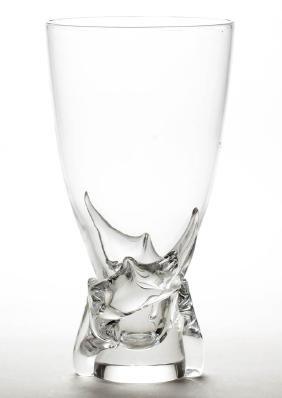 STEUBEN CRYSTAL ART GLASS VASE
