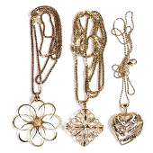 VINTAGE ITALIAN LADY'S 14K GOLD NECKLACES WITH