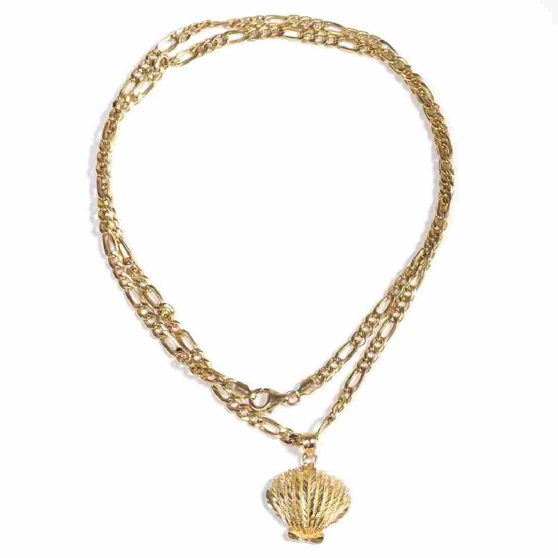 VINTAGE ITALIAN LADY'S 18K GOLD NECKLACE