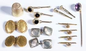 ASSORTED VINTAGE 14K AND 18K ARTICLES, LOT OF SIX