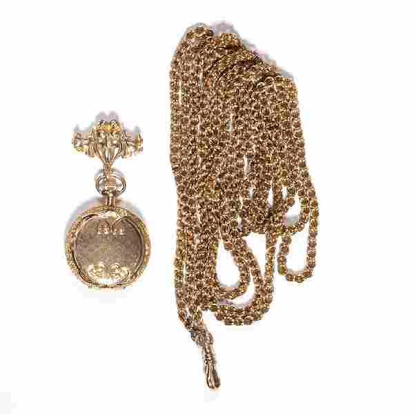 WALTHAM 14K GOLD CASE 15-JEWEL LADY'S MODEL 1898 POCKET