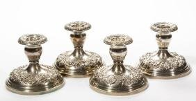 S. KIRK AND SON STERLING SILVER CANDLESTICKS, SET OF