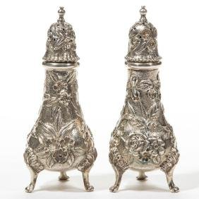 S. KIRK AND SON CO STERLING SILVER PAIR OF SALT AND