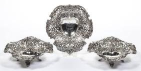 TIFFANY & CO. STERLING SILVER BON BON / NUT DISHES, SET