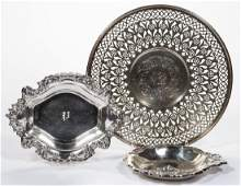 AMERICAN STERLING SILVER TABLE ARTICLES LOT OF THREE