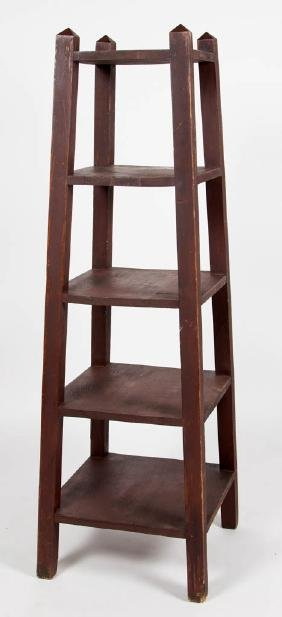 ARTS AND CRAFTS FIVE-TIERED BOOKSHELF / PLANT STAND