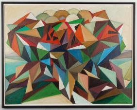 SIGISMUND WOLF (AMERICAN, 20TH CENTURY) ABSTRACT