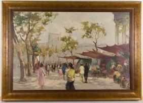 PIERRE DUMONT (FRENCH, 20TH CENTURY) PARISIAN STREET