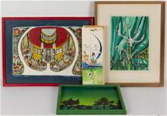 GROUP OF CARIBBEAN-RELATED PAINTINGS, LOT OF FOUR