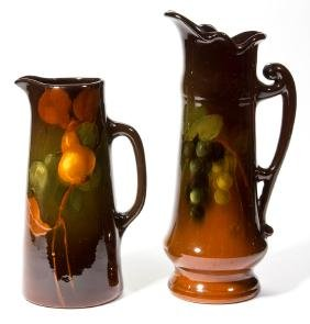 WELLER LOUWELSA ART POTTERY TANKARD PITCHERS, LOT OF