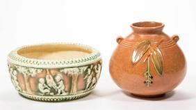 AMERICAN ART POTTERY ARTICLES, LOT OF TWO