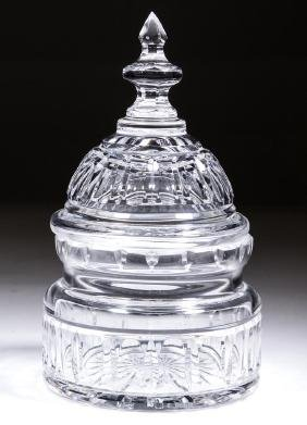 WATERFORD CRYSTAL U. S. CAPITOL DOME COVERED CRACKER /